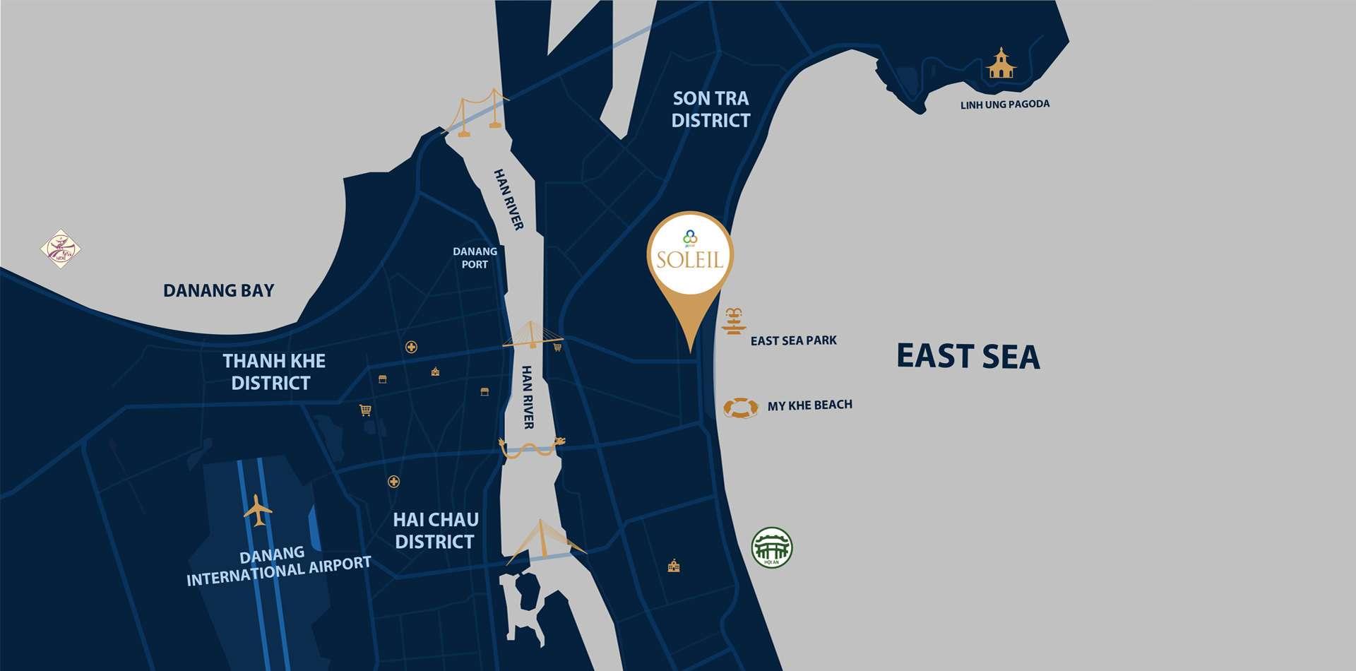 Map WYNDHAM SOLEIL ĐÀ NẴNG - Đất xanh Đà Nẵng