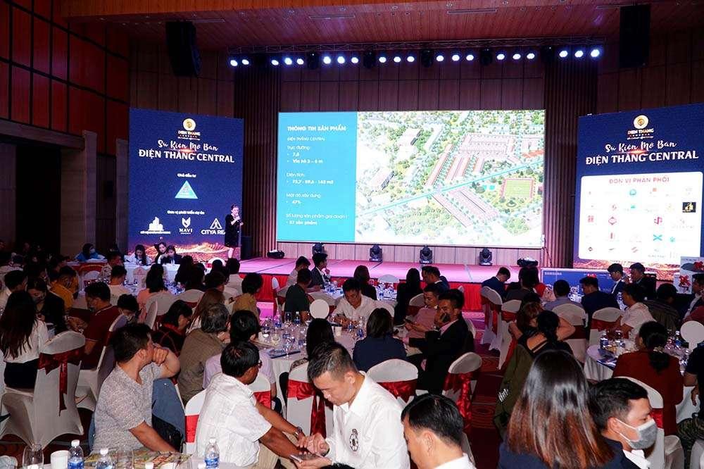 Bà Lê Thị Oanh - Đại diện Liên danh Đơn Vị Phát Triển chia sẻ về dự án Điện Thắng Central